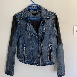Jean biker jacket